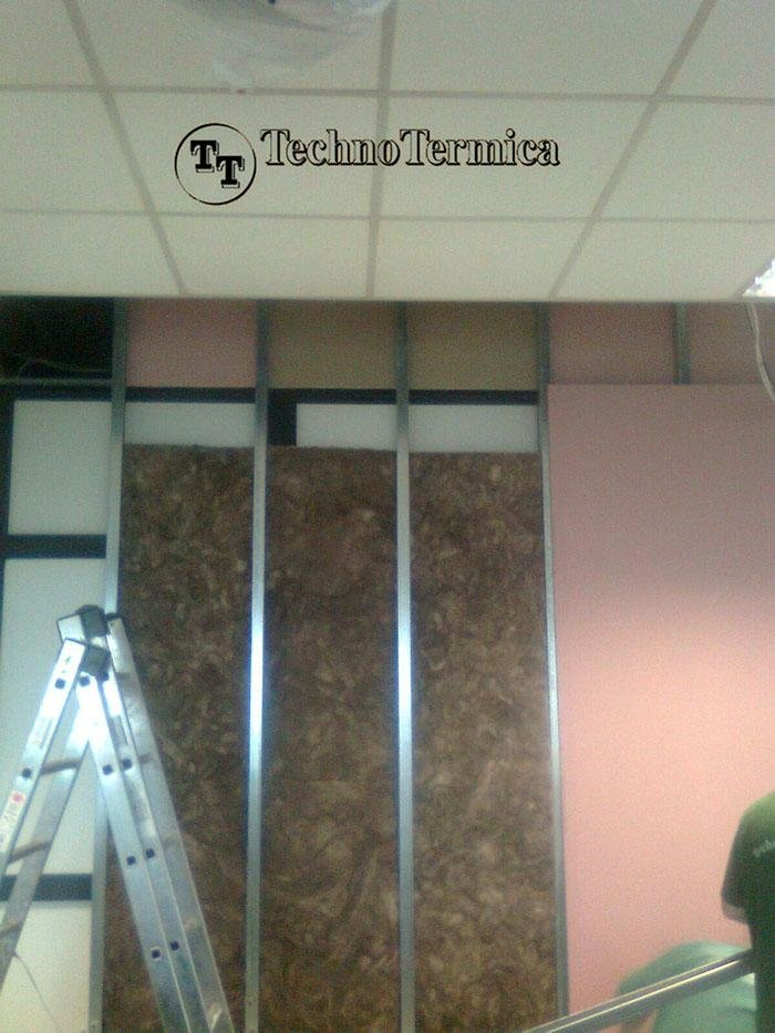 Soundproofing meeting room with wood fibre and plasterboard - San Giovanni d'Ostellato FE