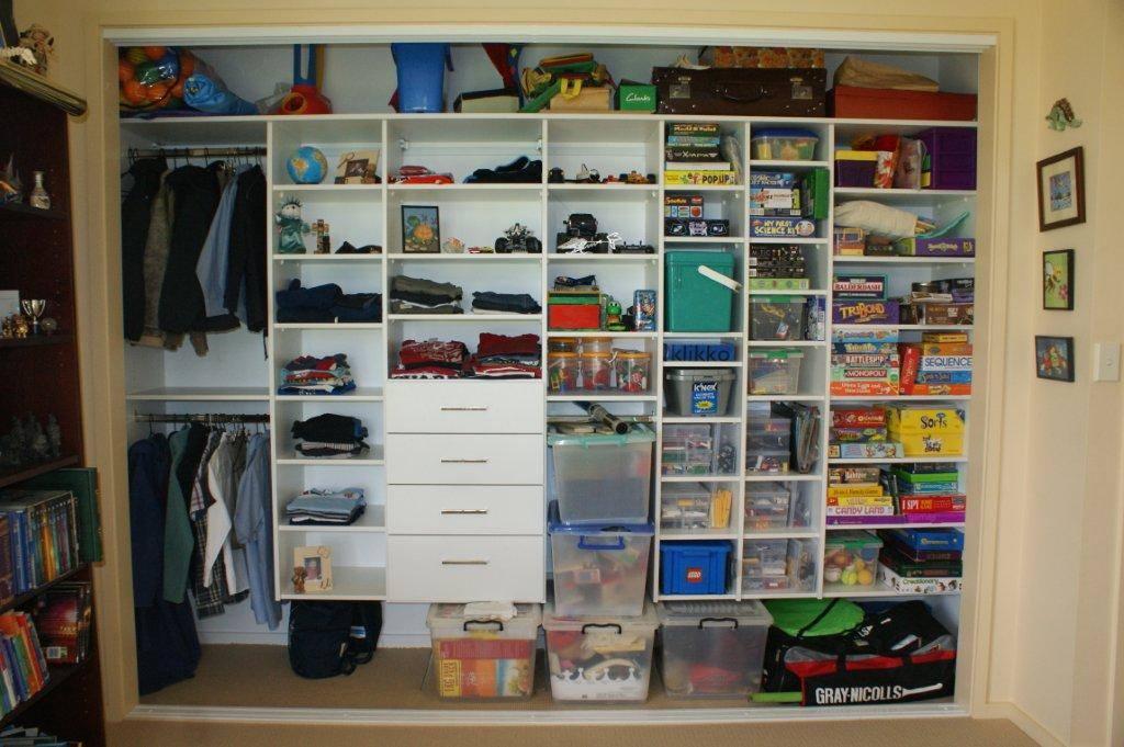 Custom designed children's storage and wardrobe