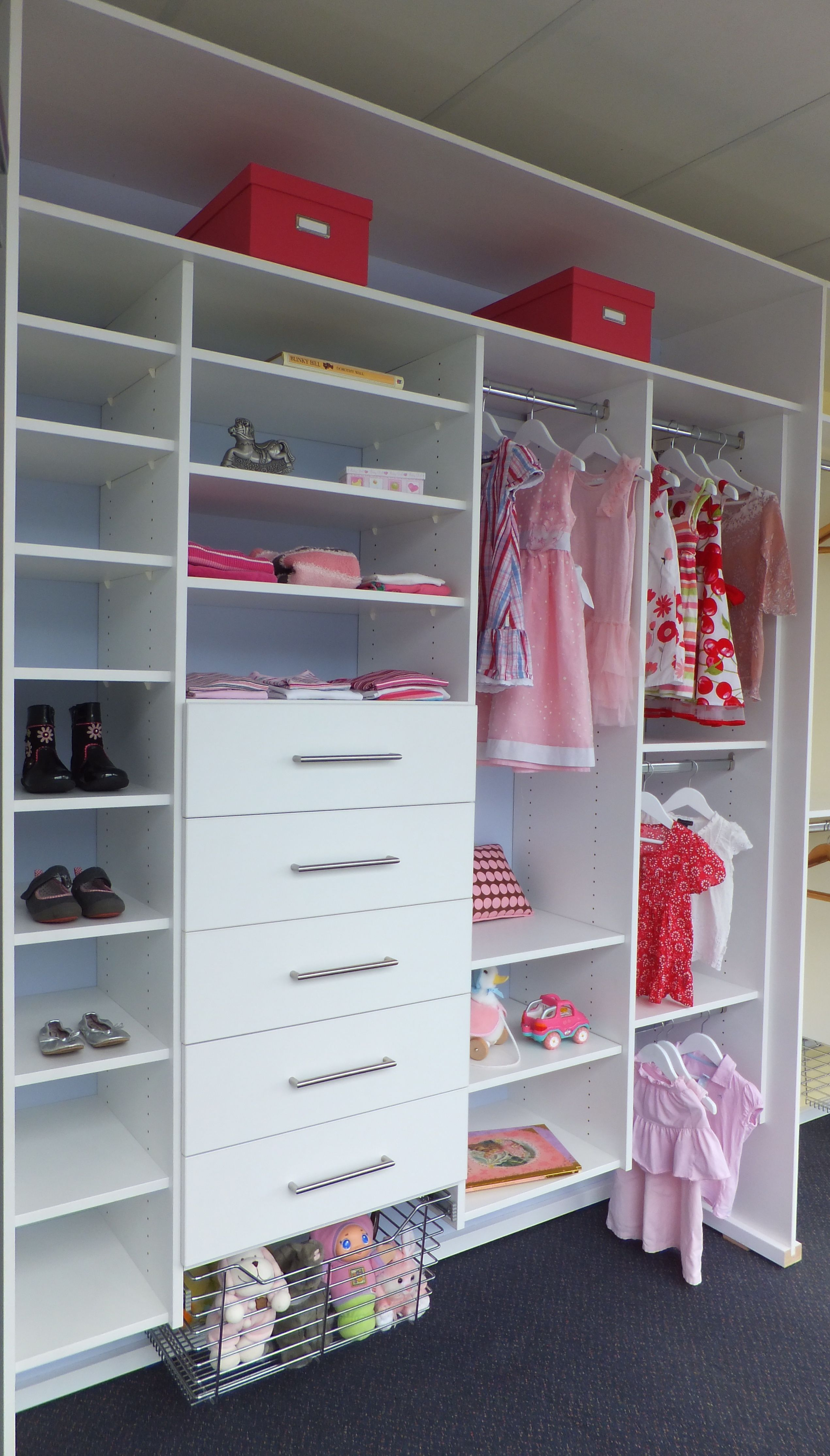 Custom designed childrens wardrobe internals