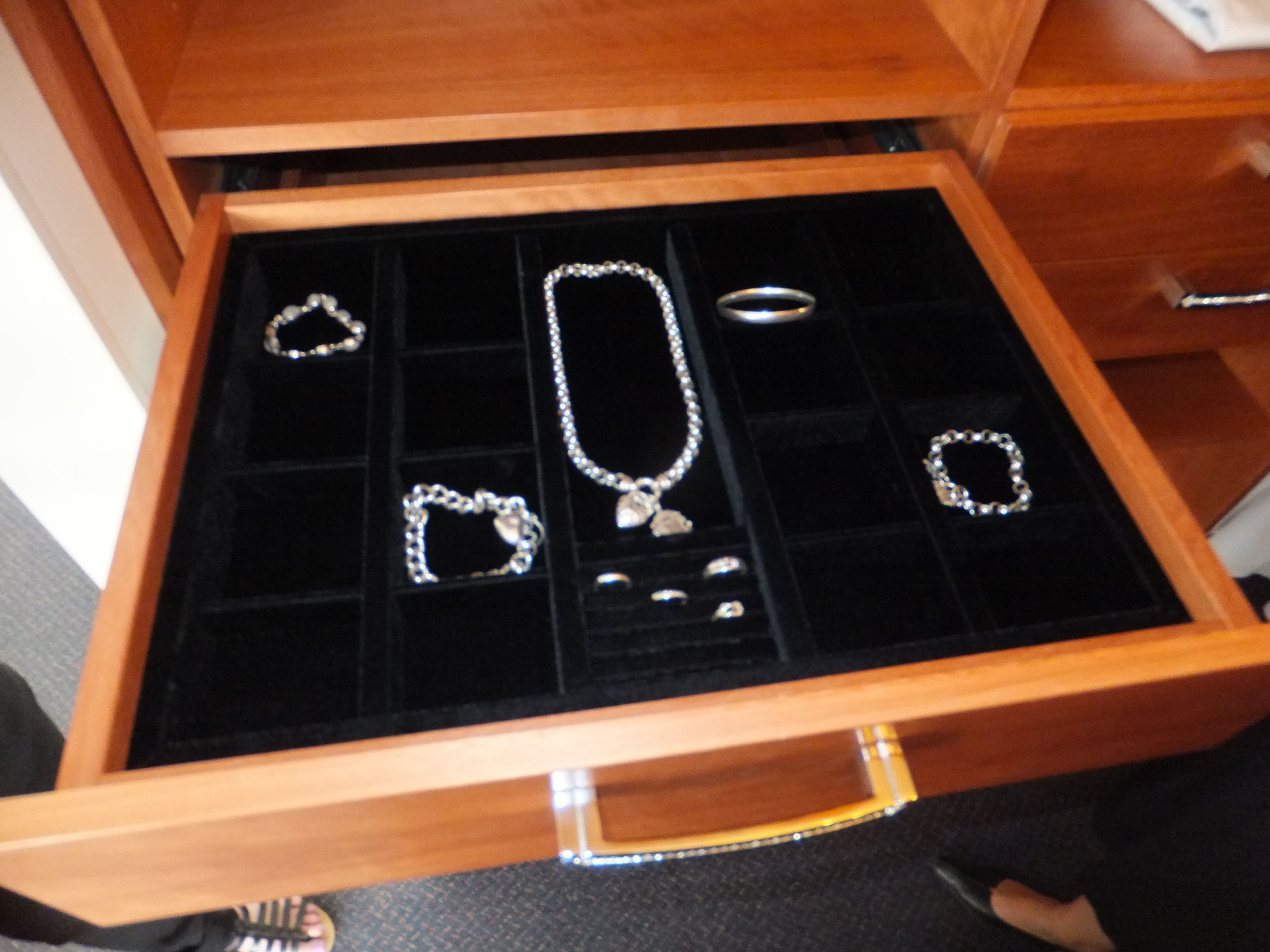 Velvet Jewellery drawer insert