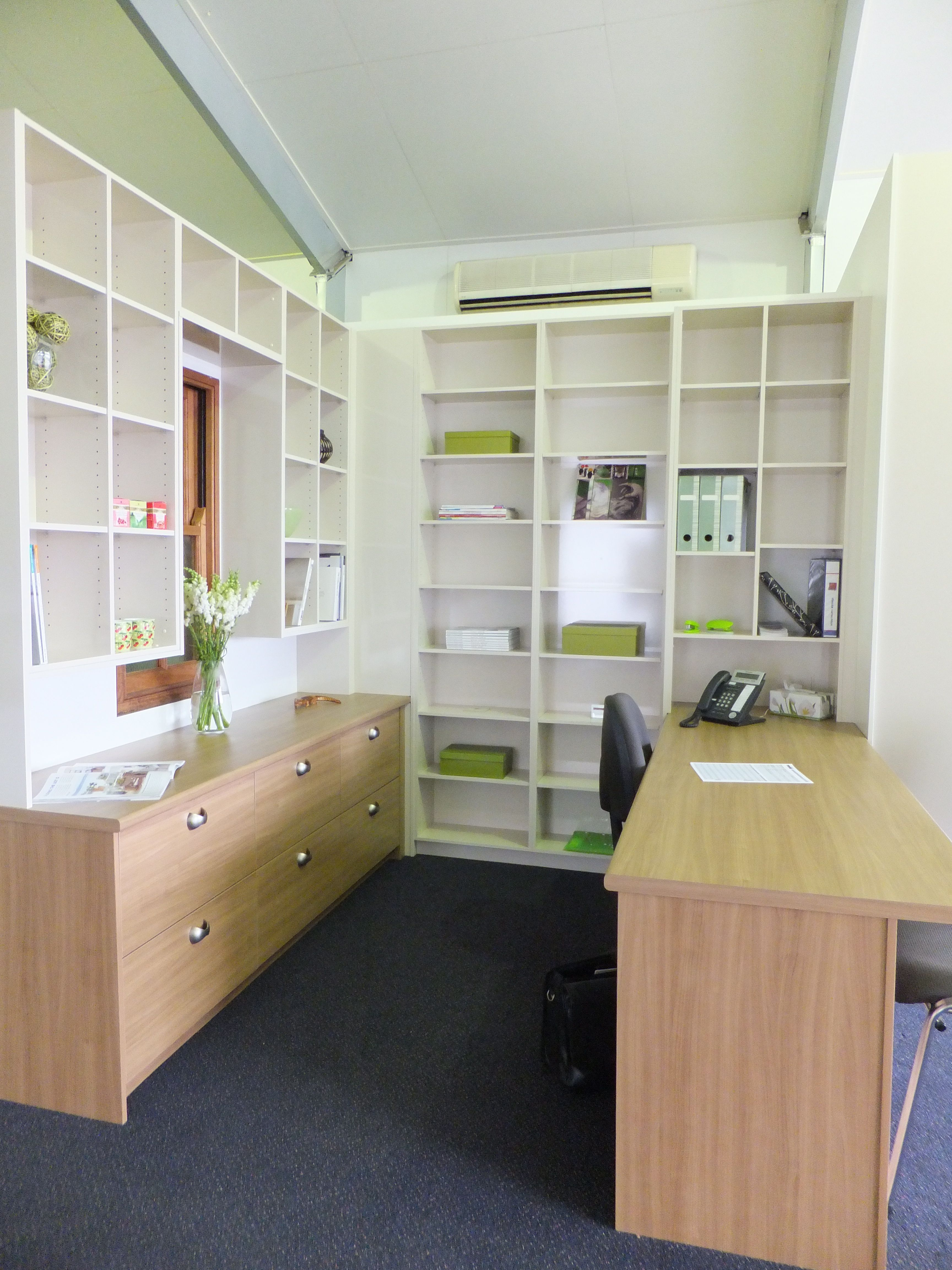 Office with folder storage