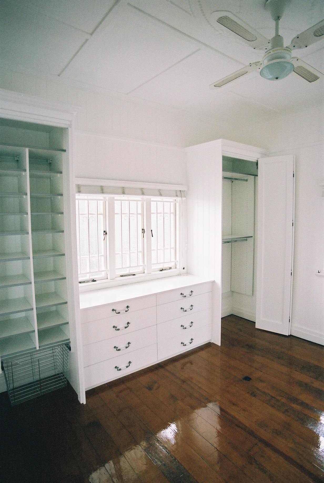 Custom built dresser drawer unit