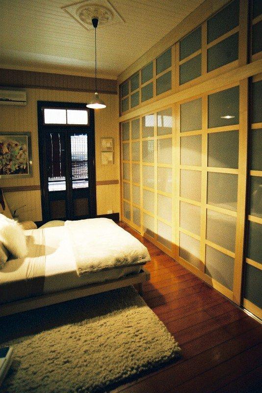 Shoji sliding wardrobe door