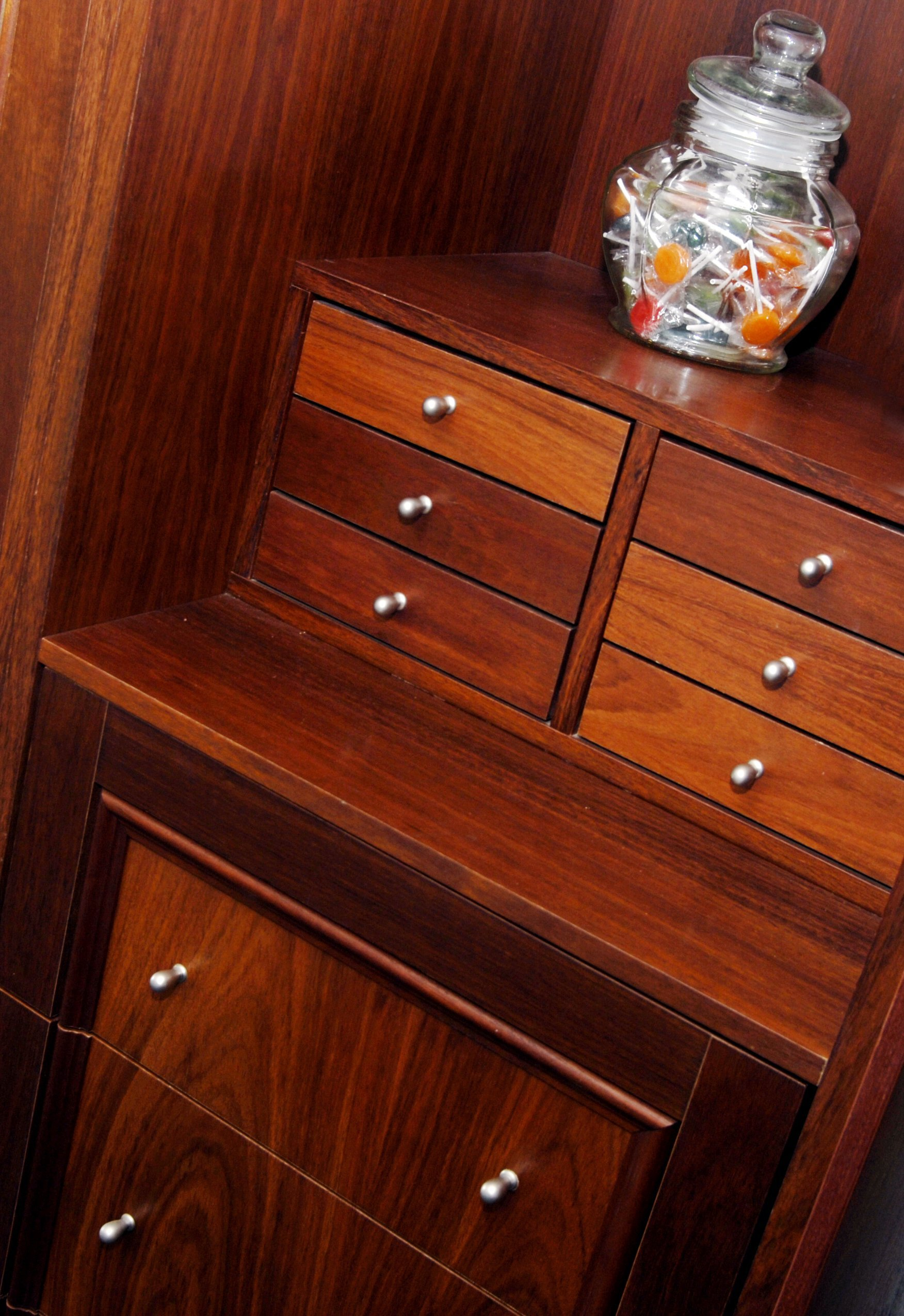 Timber jewellery cabinet