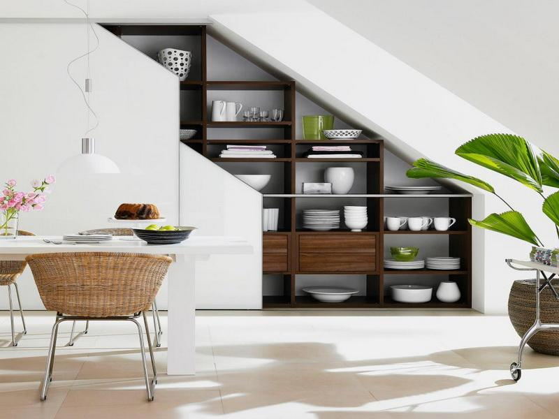 Stairs Storage Idea for Organised Small Spaces