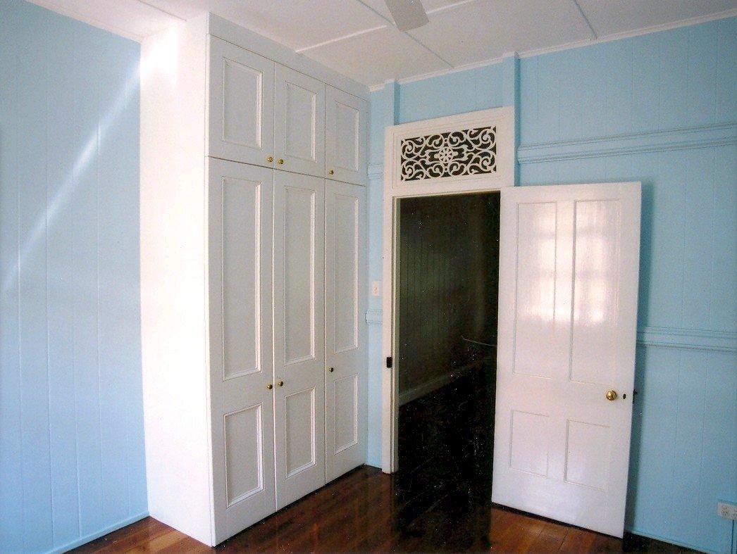 tow tier painted wardrobe doors