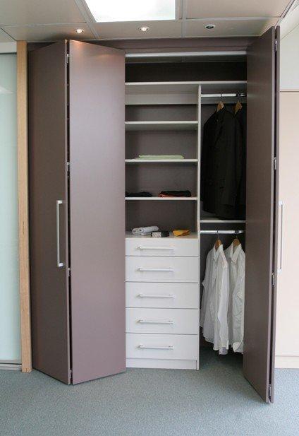 Wardrobe behind bi-fold doors