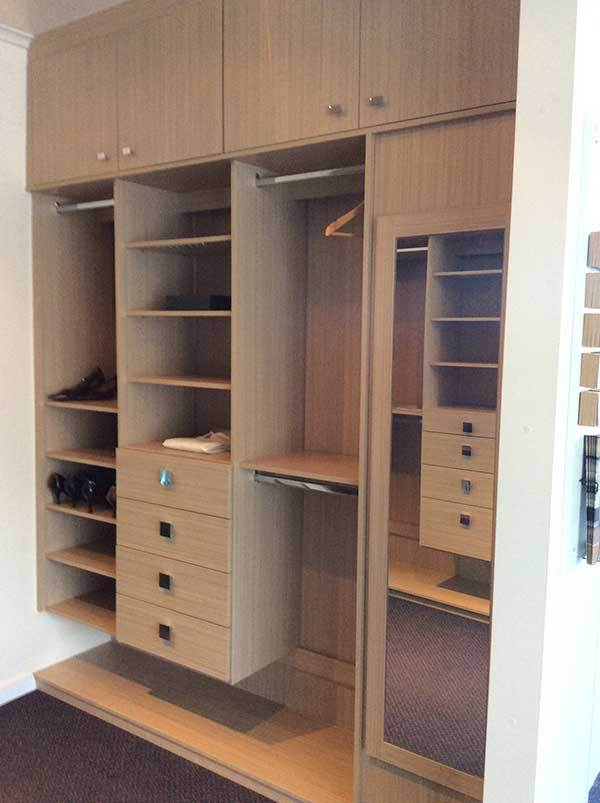 Wooden wardrobe designed by experts