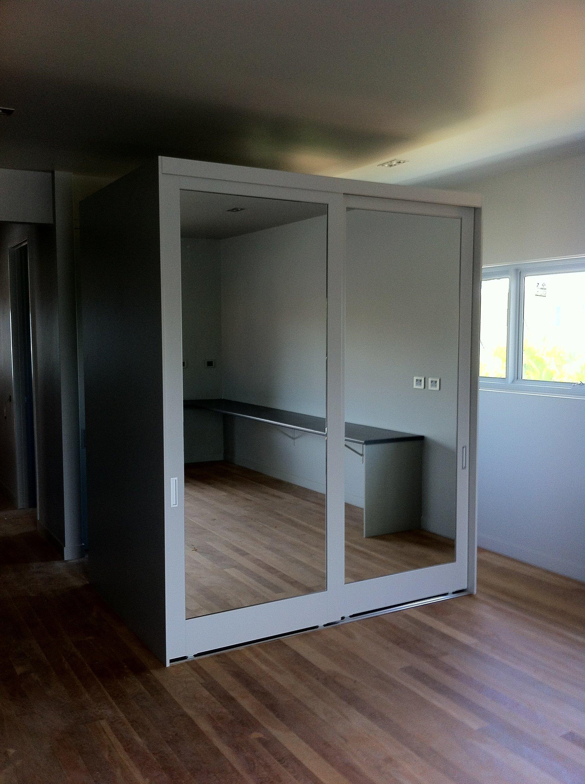 Full length mirror on sliding doors