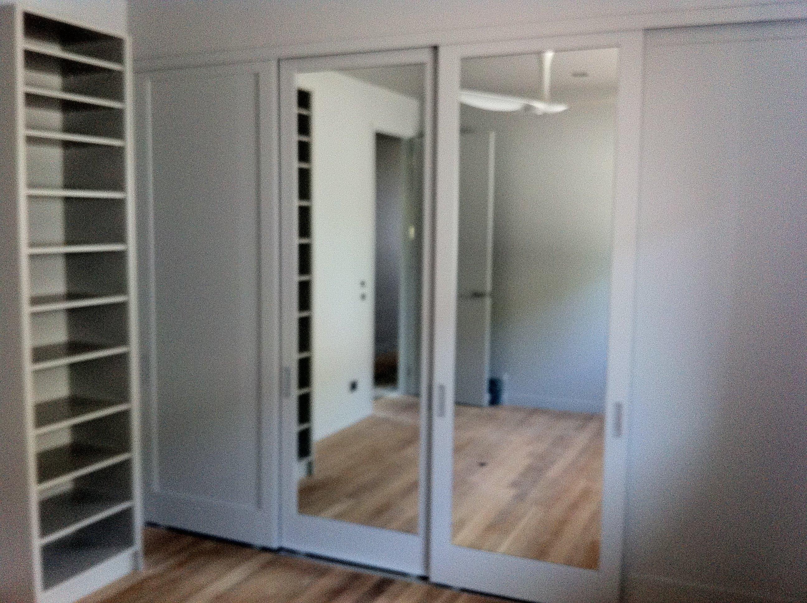Full length mirror on doors