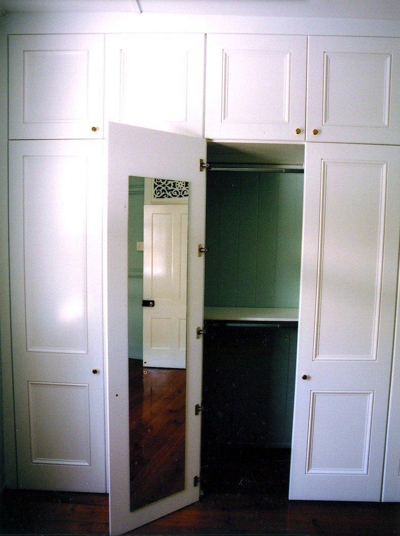 Painted wardrobe door with mirror