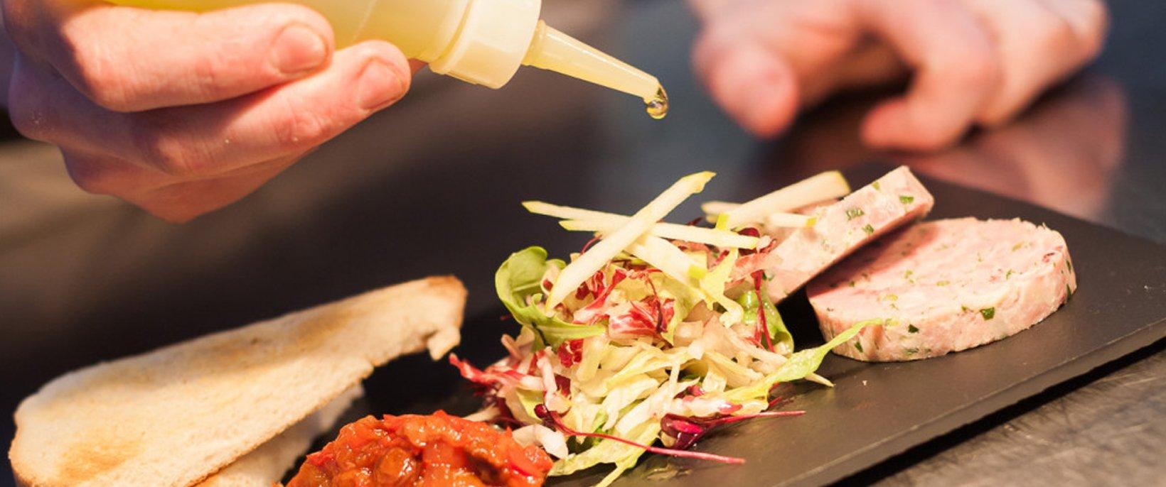 Bruschetta, salsa and salad