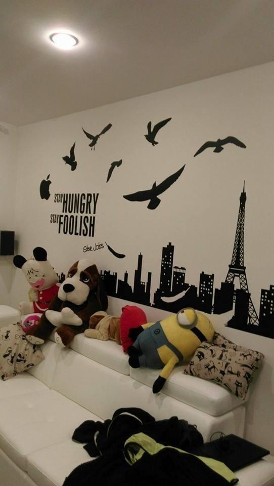 Stencil personalizzati pareti