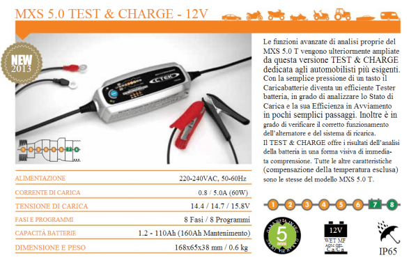MXS 5.0 TEST & CHARGE - 12V