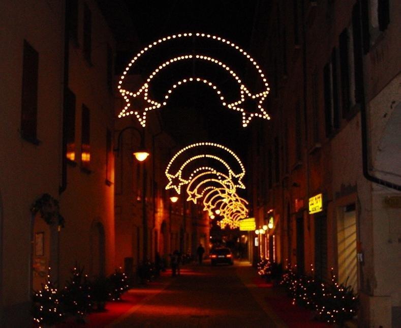 Luminarie di Natale per centro paese