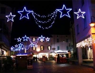Luminarie per feste e sagre azzurre