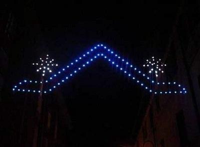 Luminarie per feste e sagre blu