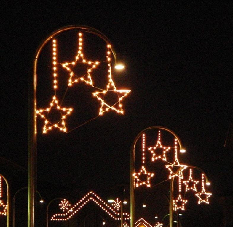Luminarie per feste e sagre pendenti