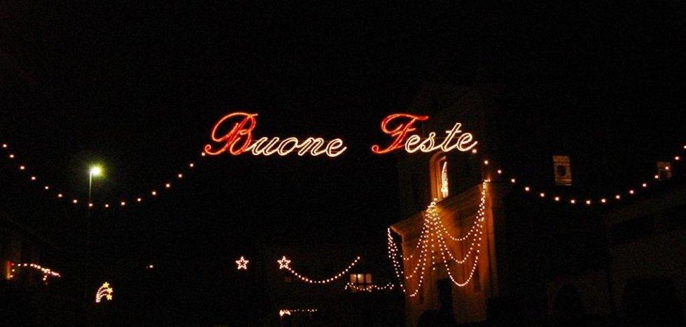 Scritta di Buone Feste