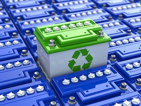 batteria auto con top verde