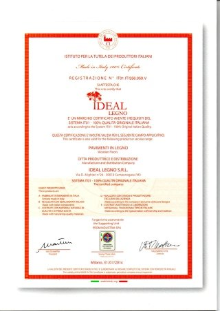 Certificazione Ideal Legno