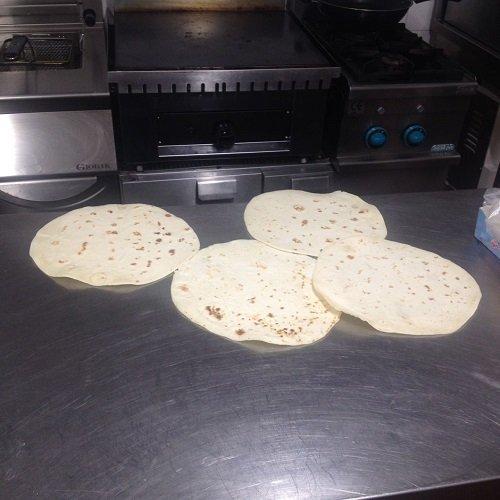 Pizze pronte per essere servite