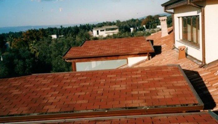 Copertura tegole tetto semplice
