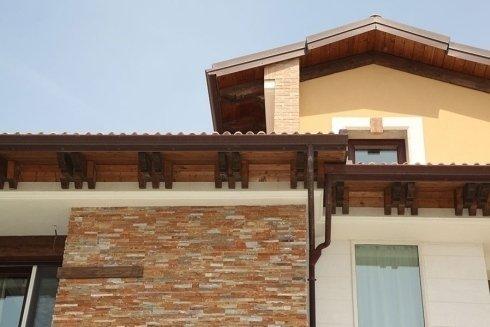 Doppio tetto legno