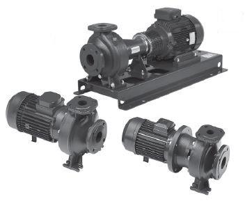 Tre pompe centrifughe