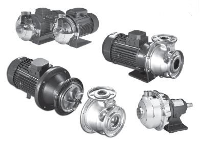 Cinque pompe centrifughe