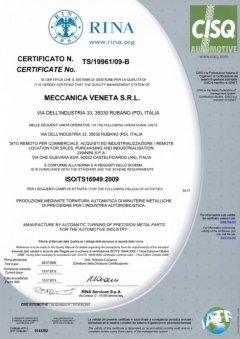 certificazione UNI EN ISO 9001-2000