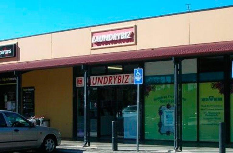 Exterior of Laundrybiz shop