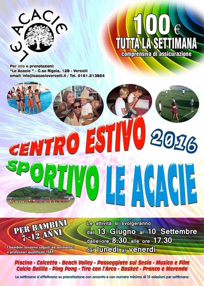 centro estivo per bambini Le Acacie Vercelli
