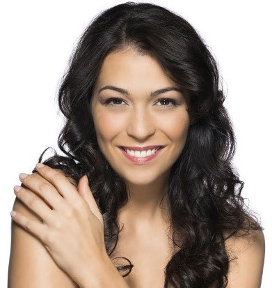 young brunette after a facial skin tightening treatment
