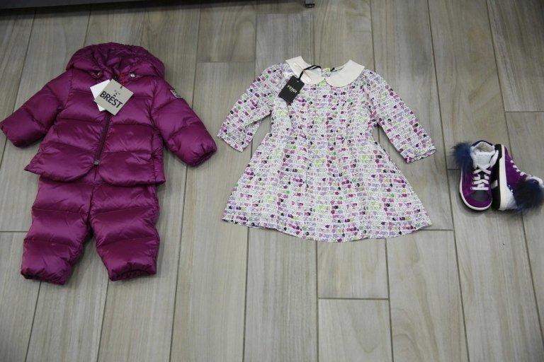 giacca invernale con cappotto caldo, scarpe e abiti  per bambina