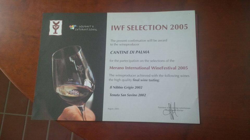 attestato di selezione 2005