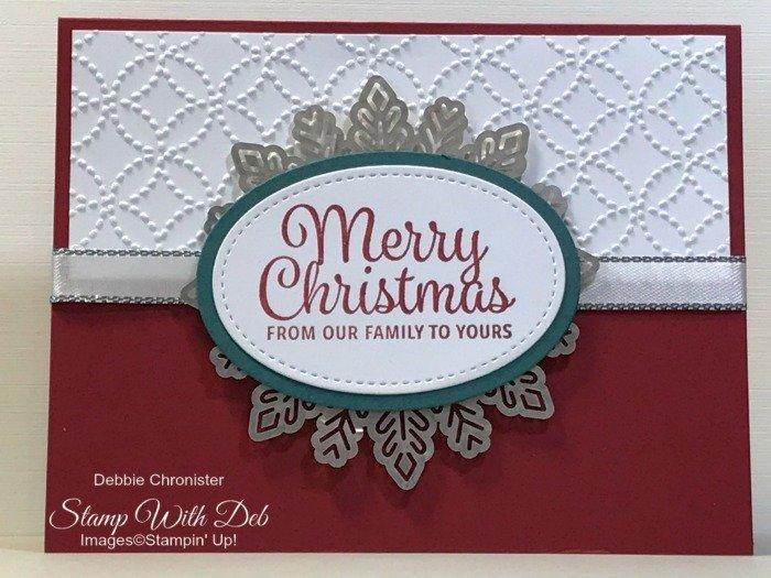 card 5 christmas snowflake