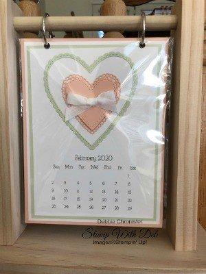 February Heart 2020 Calendar FEBRUARY 2020 CALENDAR