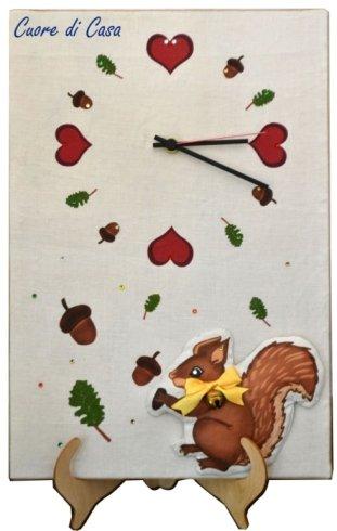 orologio, cucina, scoiattolo, regalo