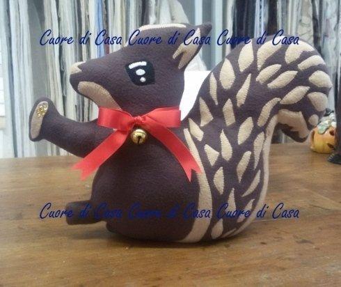 fermaporta, artigianale, scoiattolo, prato