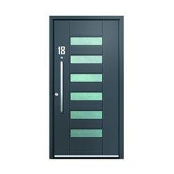 porta d'ingrsso verde scuro