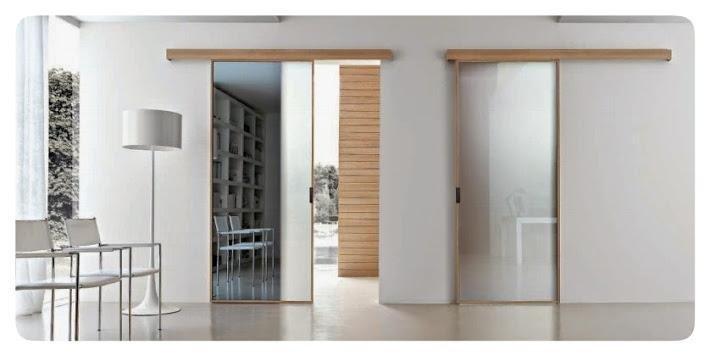 livingroom con porte in vetro e legno