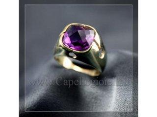 anello oro ametista