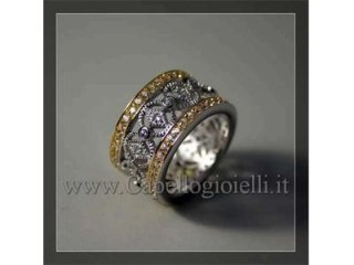 anello argento zirconi