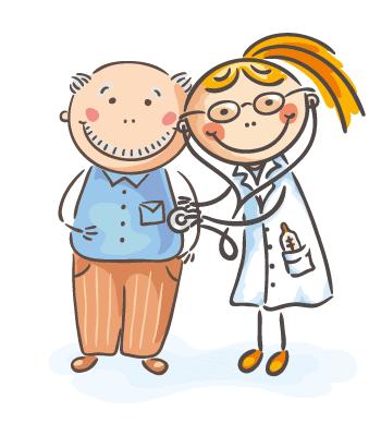 Nurse looking after elderly man