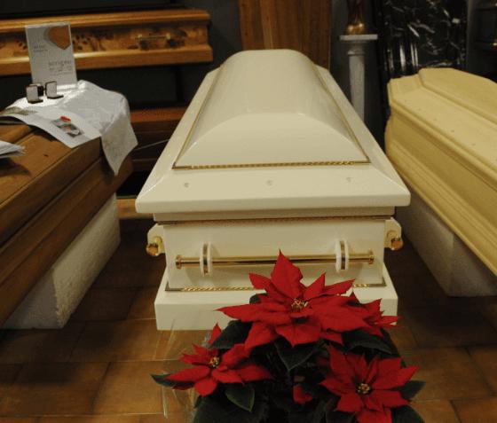 Cassa funebre in avorio