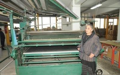 macchina tessile lino