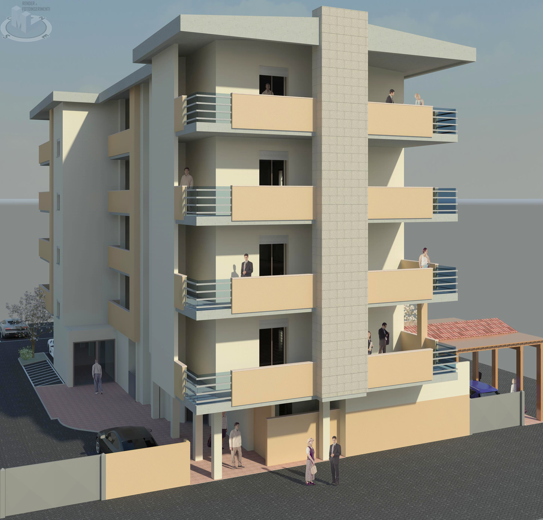 Vista 3D palazzo a Marina di Grosseto