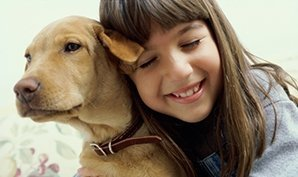coolum veterinary surgery girl with dog