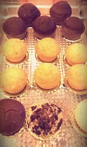 Cupcakes al cioccolato e lisci